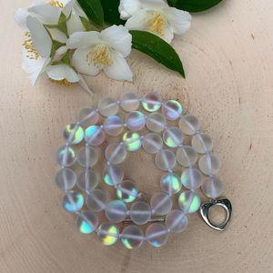 Moonstone Gemstone Beaded Necklace